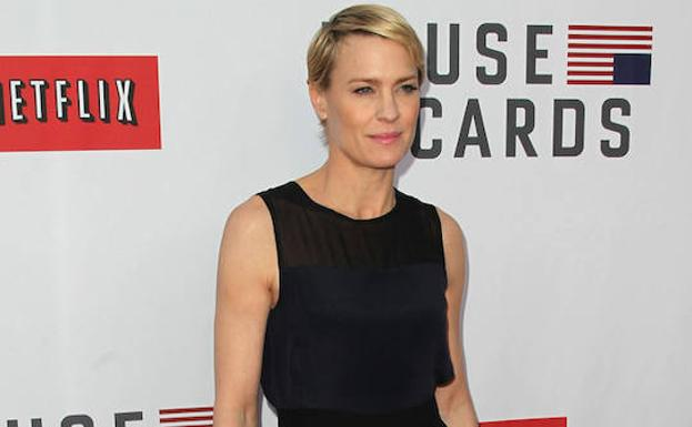 La actriz Robin Wright, de 'House of Cards'./