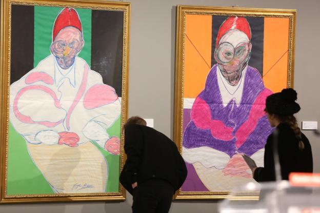Exposición de Francis Bacon en el Centro Niemeyer. /  MARIETA