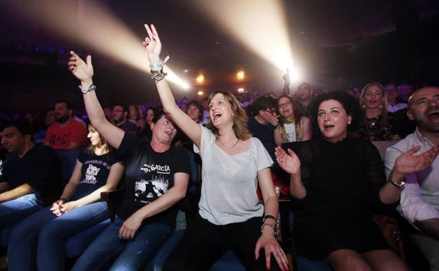 El público disfruto de principio a fin con el concierto.