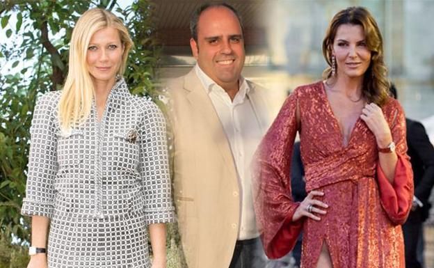 Gwyneth Paltrow, Julio Ruz y Mar Flores./Agencias