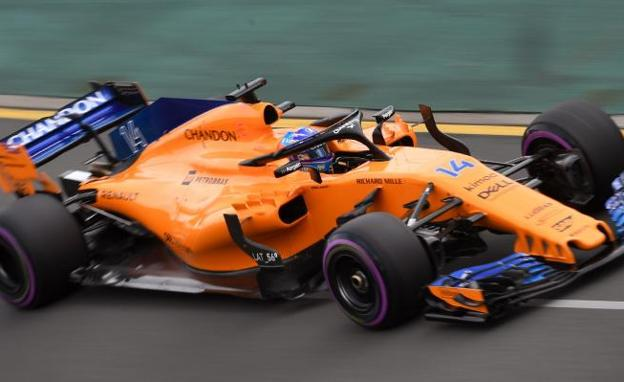 El McLaren de Fernando Alonso. /William West (Afp)