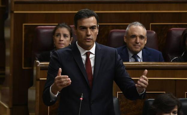 Pedro Sánchez, ayer en el Congreso de los Diputados/Europa Press