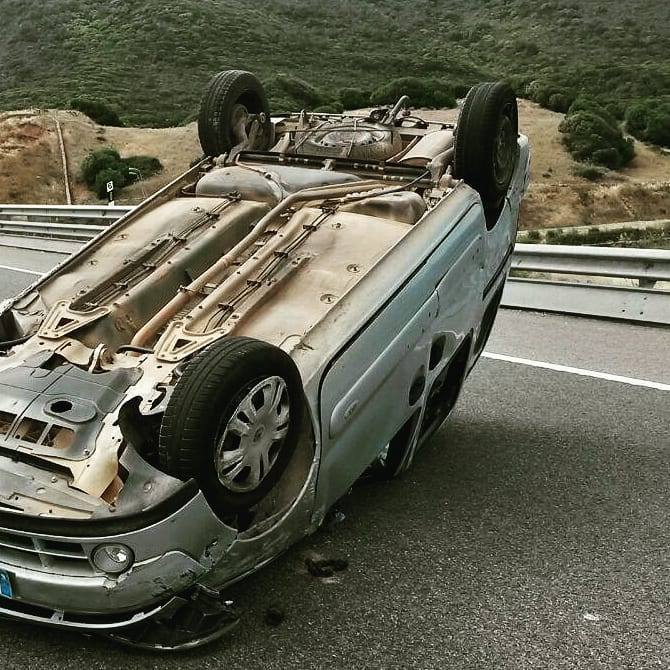 Estado del vehículo tras el accidente./Guardia Civil