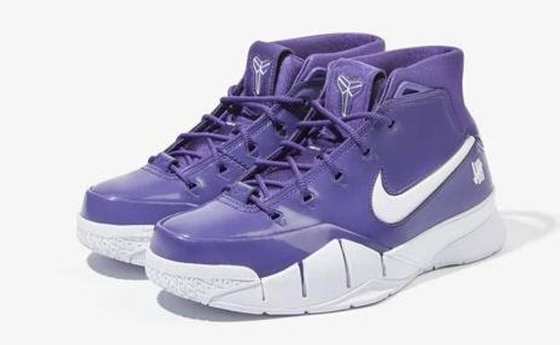 Las zapatillas Undefeated x Nike Kobe 1 Protro Purple superan los 5.000 euros.