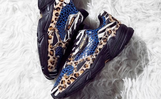 Las nuevas adidas Originals Falcon con doble animal print.