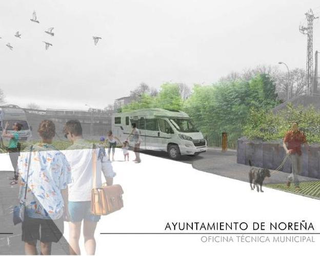 Infografía que muestra el aspecto que tendría el parque terminado. / E. C.