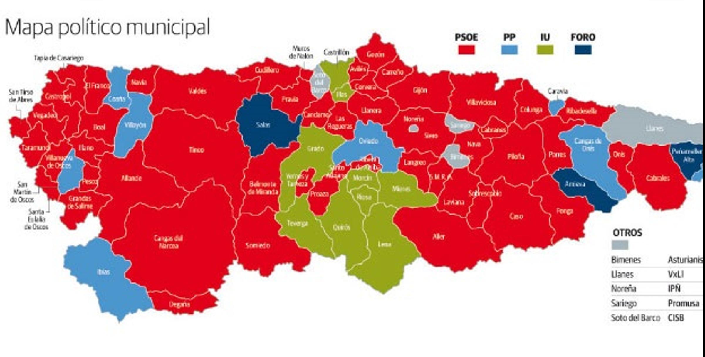 El Nuevo Poder Municipal De Asturias El Comercio