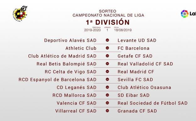 Calendario Real Madrid 2019.Un Calendario De Liga Al Gusto Del Consumidor El Comercio