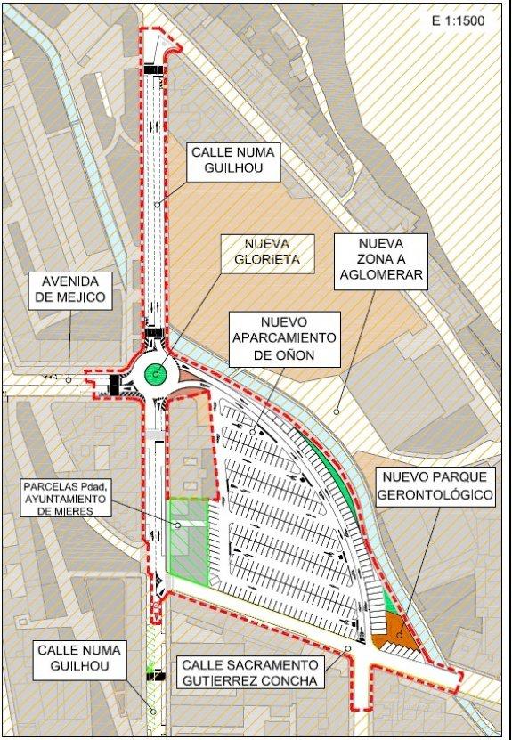 Una glorieta dará acceso al nuevo aparcamiento de Oñón, con 300 ...